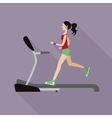 Girl on a treadmill vector image vector image
