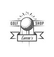 golf rent logotype vector image vector image