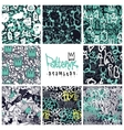 Graffiti seamless patterns set vector image vector image