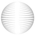 halftone globe desing with clean center vector image vector image