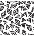 hand-painted seamless pattern with triangle vector image vector image