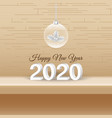 happy new year 2020 decorative design with xmas vector image vector image