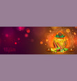 happy ugadi header or banner design with golden vector image vector image