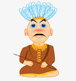 indian apache cartoon vector image vector image