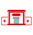 isolated hospital icon vector image