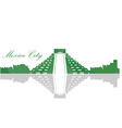Isolated Mexico City skyline vector image vector image