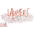 lawyers text background word cloud concept vector image vector image