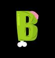 letter b zombie font monster alphabet bones vector image vector image