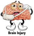 man brain injury character vector image vector image