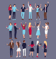 men and women icon set vector image
