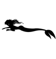 mermaid swimming vector image