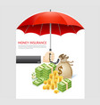 money insurance concept design vector image vector image