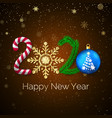 new year 2020 greeting card with 2020 lettering vector image vector image