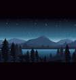 night lake landscape flat vector image vector image