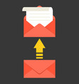 open envelope and message with arrow vector image