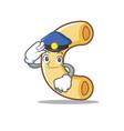 police macaroni character cartoon style vector image vector image