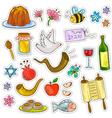 rosh hashanah symbols vector image vector image