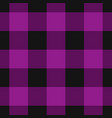 seamless black dark and bright purple tartan vector image vector image