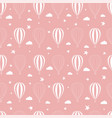 seamless pattern balloons on a pink background vector image vector image
