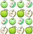 seamless texture of cartoon green apples of vector image vector image