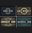 set of 4 vintage labels ready for packing vector image vector image