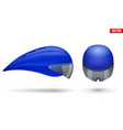 set of time trial bicycle helmets vector image