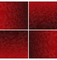 Set Red Honeycomb Background vector image vector image