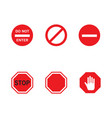 sign stop icon vector image