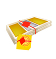 Stack of Joss Paper for Chinese New Year vector image vector image