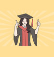 successful education graduation from university vector image
