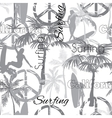 Surfing California Grayscale Seamless vector image vector image