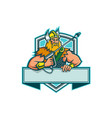 thor holding pressure washer wand mascot vector image vector image