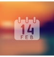 Valentine icon on blurred background vector image