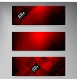 banners and squares Color set vector image