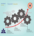 business goals teamwork infographic vector image