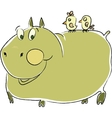 friendly hippo vector image
