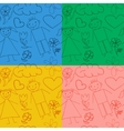 Set of seamless baby patterns vector image