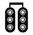 traffic light icon simple black style vector image