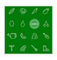 07 icons 4 4 b vector image