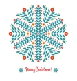 Abstract design with snowflakes vector image