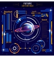 Abstract Future Interface Composition vector image vector image