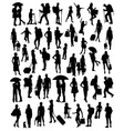 Activities Silhouette People vector image vector image
