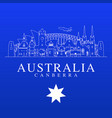 australia travel landmarks vector image vector image