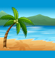 beautiful seascape seaside with mountain and cocon vector image vector image