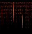 binary code zero one matrix red background vector image vector image