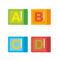 blocks with alphabet toys vector image