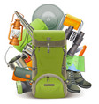 Camping Concept with Haversack vector image vector image