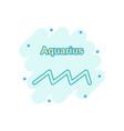 cartoon aquarius zodiac icon in comic style vector image