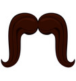 cartoon icon poster man father dad day mustache vector image vector image