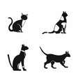 Cat icon set simple style